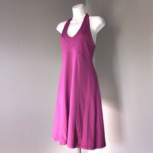 PATAGONIA Hot Pink Nylon Fitted Halter Sundress
